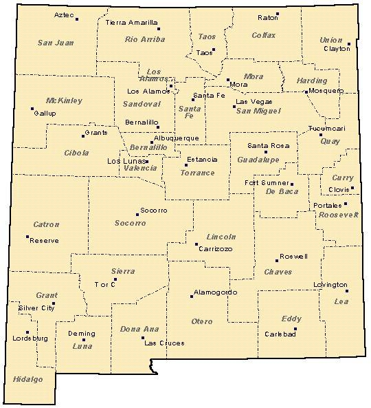 Maps Eddy County NM - New mexico map with cities