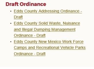 Draft Ordinances