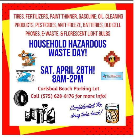 Carlsbad Household Hazardous Waste Day Poster for 042818