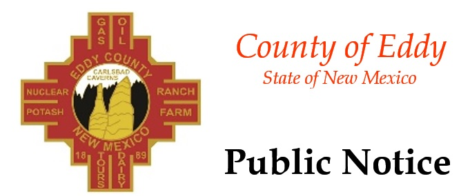 Public Notice heading with Eddy County Logo  (JPG)